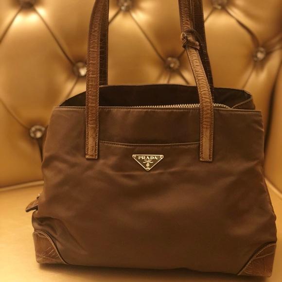 26387d0ffd71ad Prada Bags | Authentic Nylon Crocodile Shoulder Bag | Poshmark